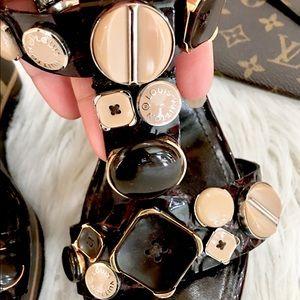 Louis Vuitton Shoes - 💯LOUIS VUITTON WEDGE WOODEN SANDALS 39